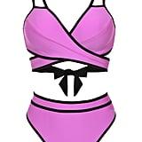 Ashley Graham x Swimsuits For All Roxbury Wrap High Waist Bikini
