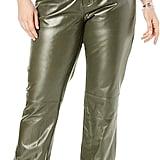 Jessica London Women's Straight-Leg Leather Pants