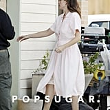 Jennifer Garner stepped out of the wardrobe trailer in character.