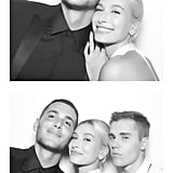 Hailey Wore a White Halter-Neck Dress For Her Reception