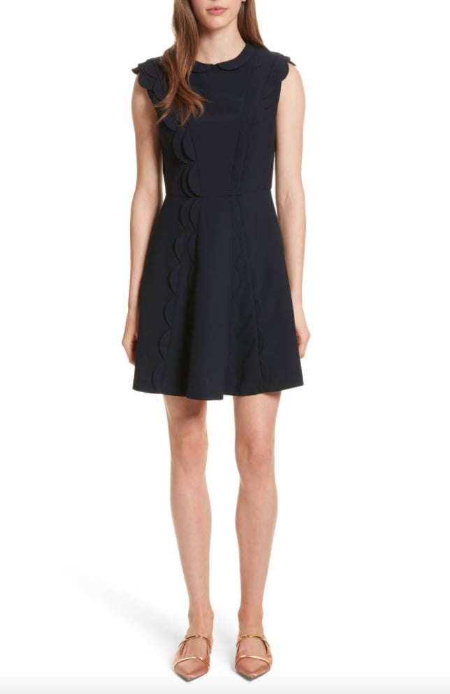 Ted Baker Scalloped Panel Fit & Flare Dress