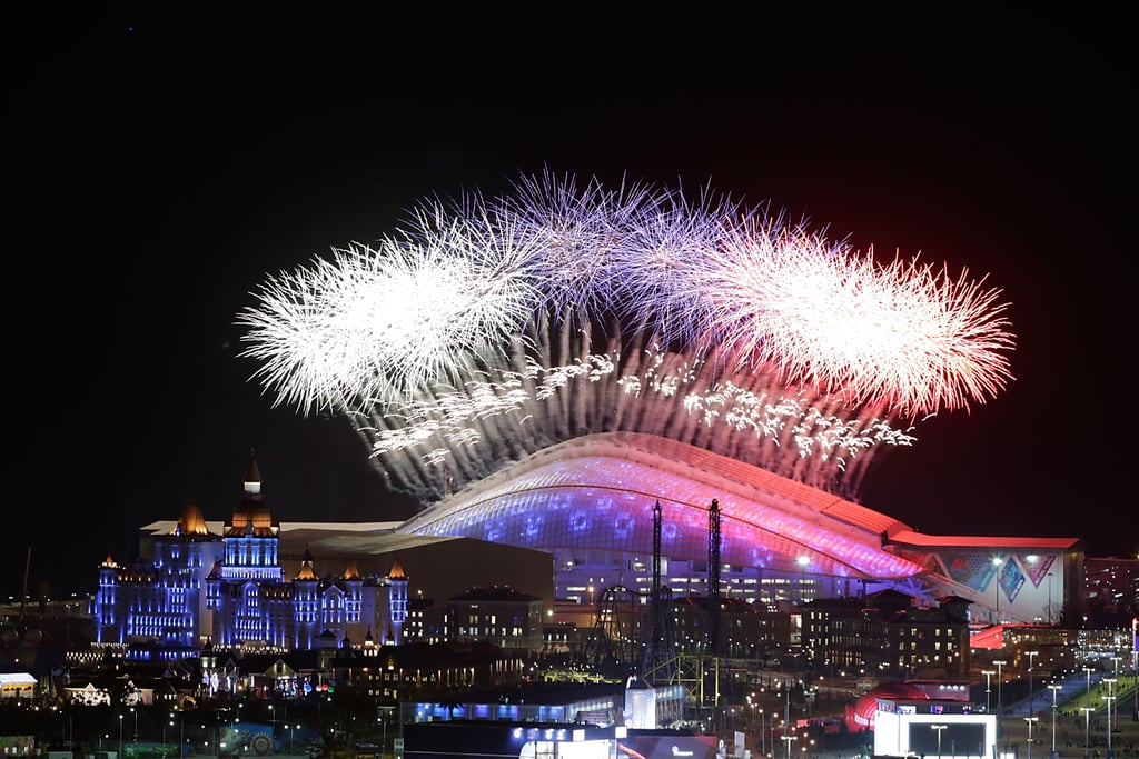 Fireworks lit up the sky during the opening ceremony.
