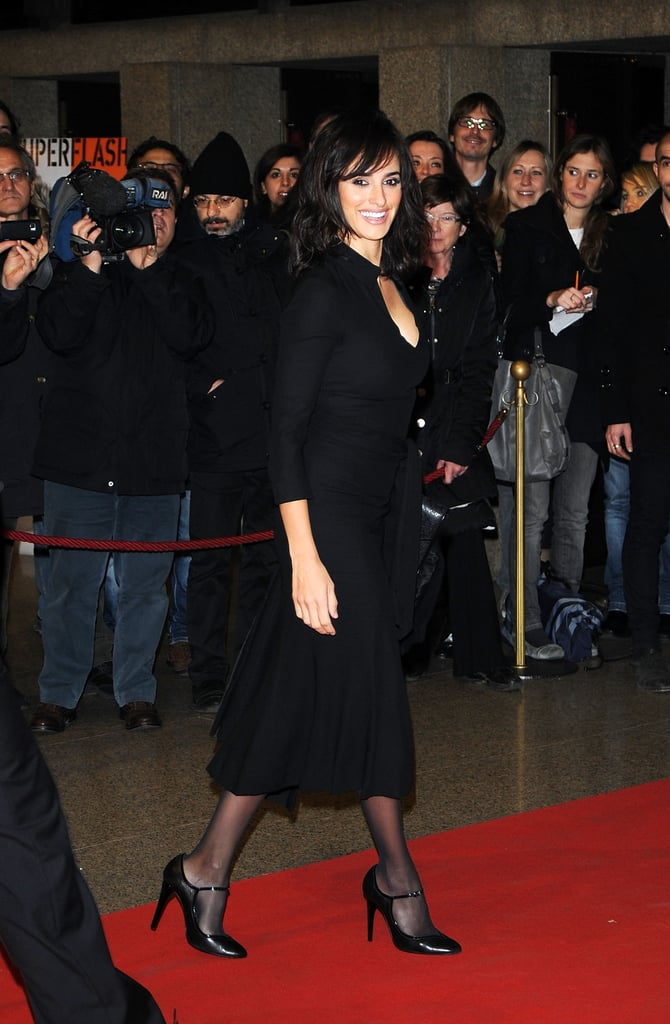 Penelope Cruz joined her Venuto al Mondo director Sergio Castellitto and costar Emile Hirsch last night for the opening ceremony of the 29th annual Turin Film Festival. Margaret Mazzantini, who wrote the novel on which the movie is based, also attended with her husband Sergio. Penelope's been shooting the project for the last few months with Sergio and Emile, traveling from Bosnia to Italy. The picture's slated for release next year, and, in addition to the Turin celebration, they've also begun promoting Venuto at the Rome Film Festival.