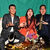Ronny Chieng, Awkwafina, and Nico Santos