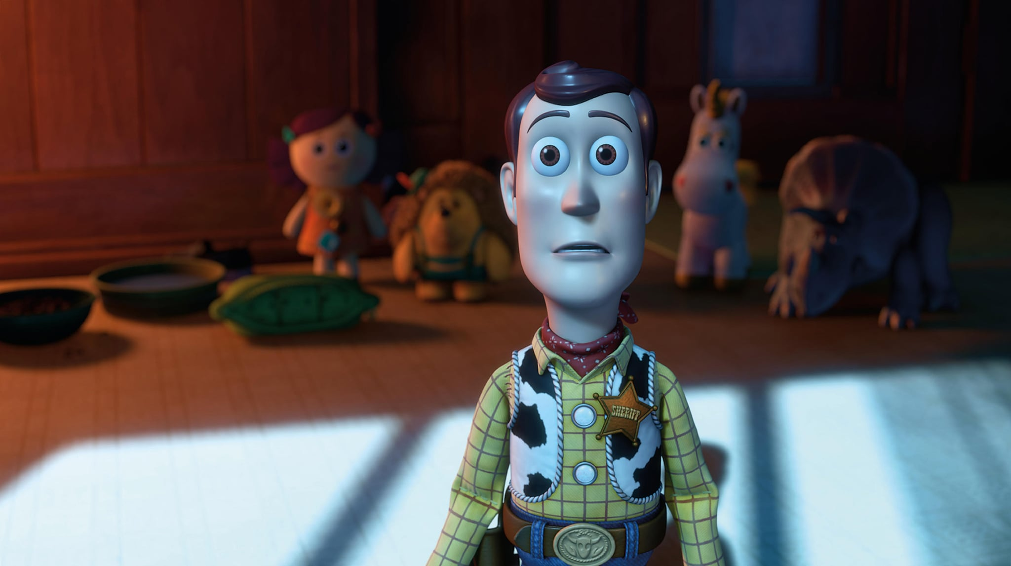 TOY STORY 3, front: Woody (voice: Tom Hanks), 2010. Buena Vista Pictures/courtesy Everett Collection