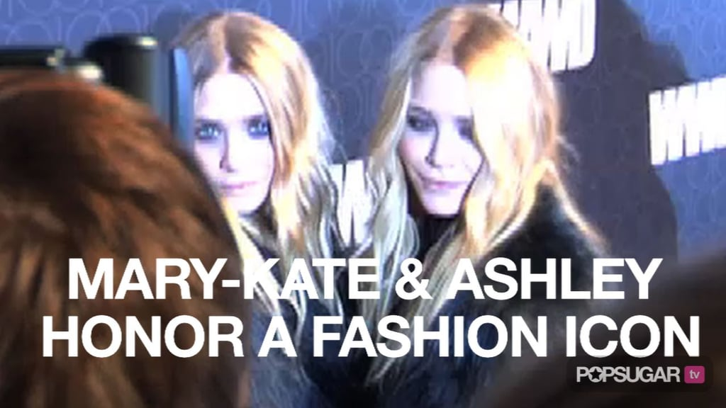 Video of Mary-Kate and Ashley Olsen at Women's Wear Daily Celebration 2010-11-03 09:20:56