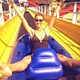 Heidi Klum had some fun at a water park. Source: Twitter user heidiklum