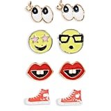 Capelli of New York Emoji Earrings