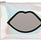 Lulu Guinness Silver Lips Pouch