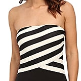 DKNY Iconic Stripe Layered Bandeau Maillot ($114)