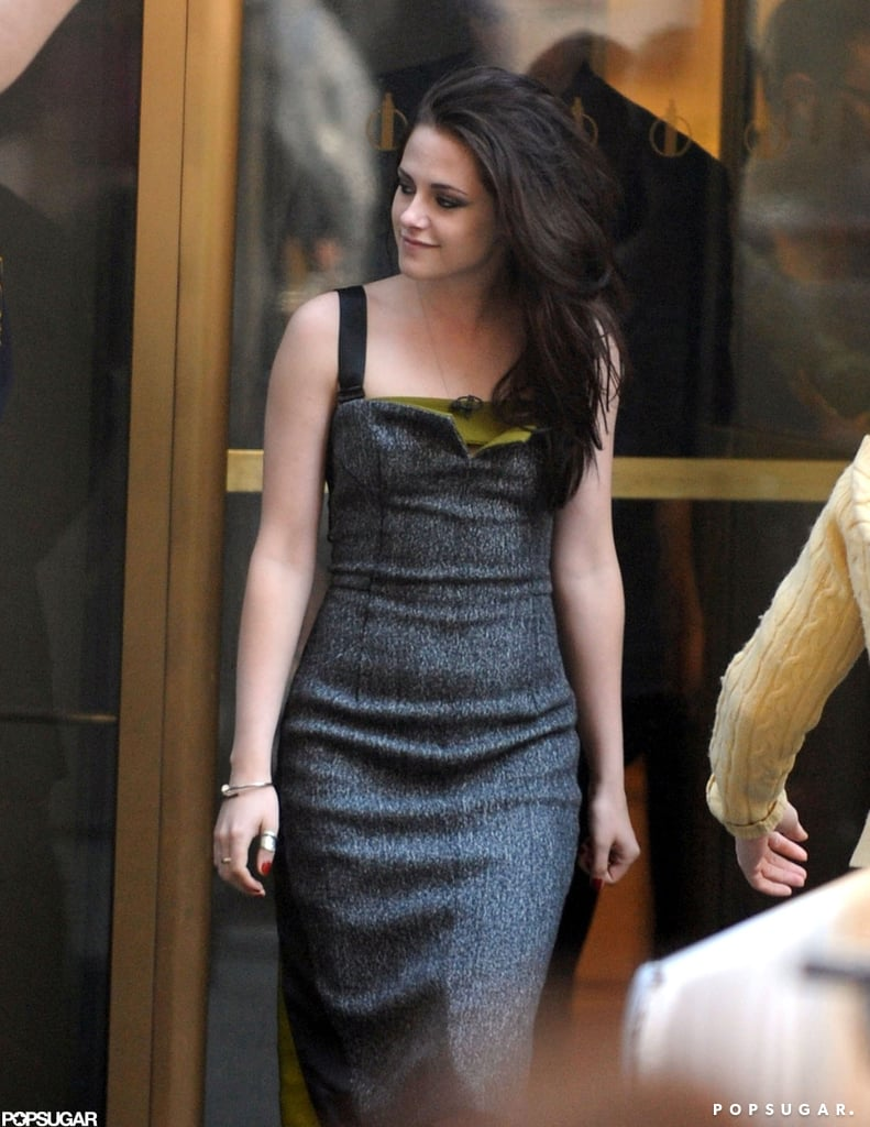 Kristen Stewart made an appearance on the Today show in NYC.