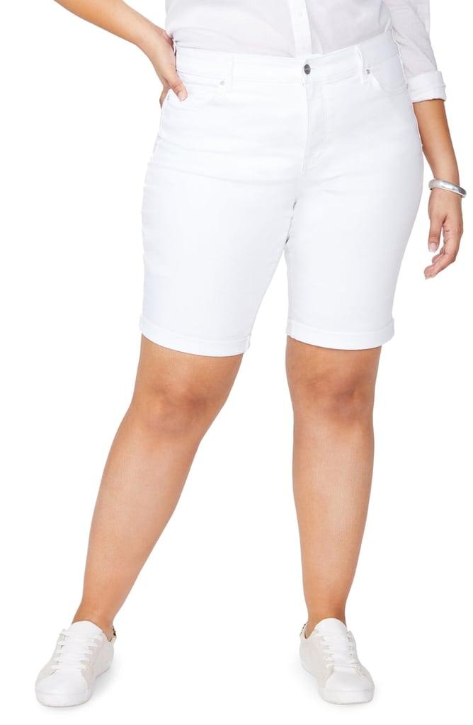 00cd3c0965e NYDJ Briella Cool Embrace Roll Cuff Shorts | Best Plus-Size Denim ...