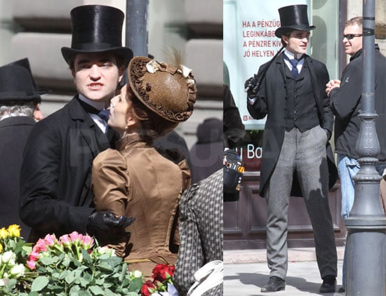 Photos of Robert Pattinson Filming Bel Ami in Budapest With Kristin Scott Thomas