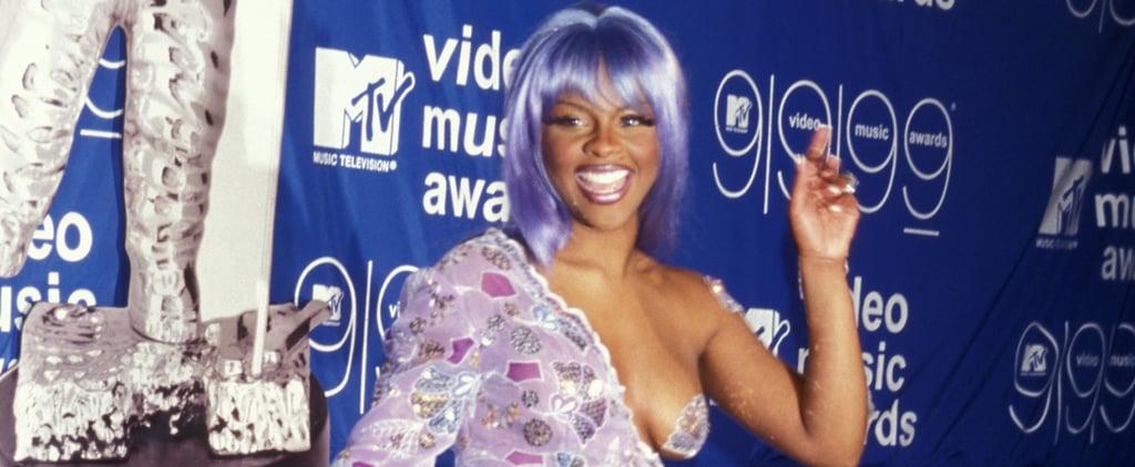 The Story Behind Lil' Kim's Purple Jumpsuit at MTV VMAs