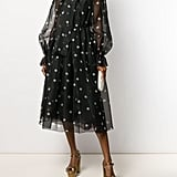 Dolce & Gabbana Tulle Polka-Dot Print Dress