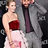 Emily Blunt and John Krasinski at A Quiet Place NYC Premiere
