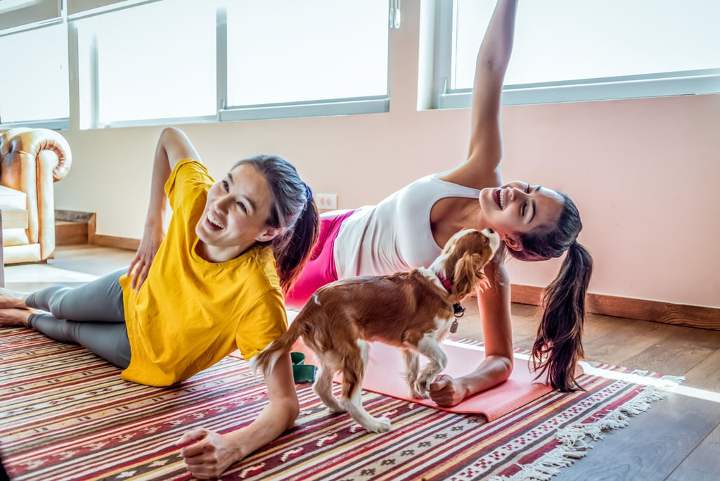People Working Out With Dogs
