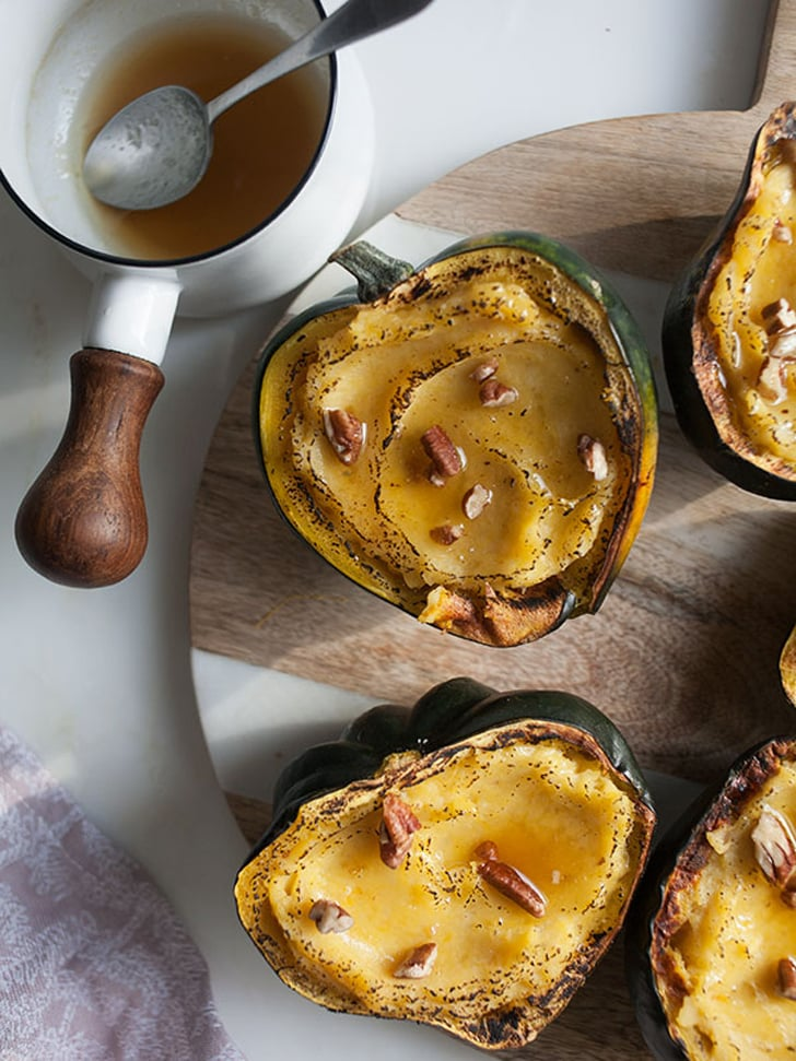 Twice-Baked Acorn Squash With Maple Butter and Pecans