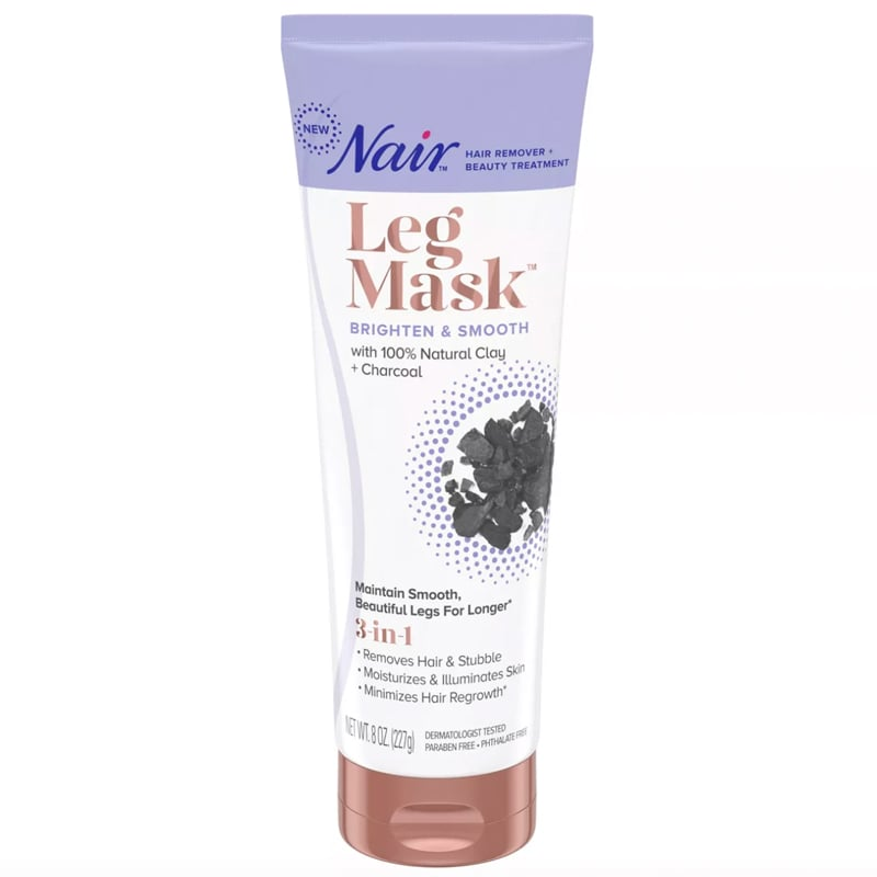 Nair Leg Mask Brighten + Smooth With Charcoal