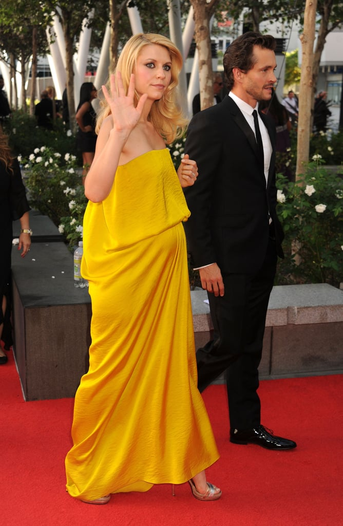 Claire Danes arrived at the Emmy Awards with husband Hugh Dancy.