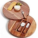 Acacia Wood Cheese Board & Cheese Knives