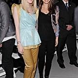 Natalie Portman and Dakota Fanning posed at Rodarte.