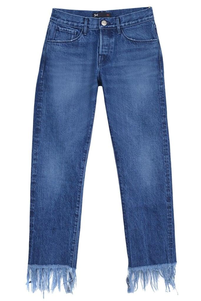3x1 Crop Fringe Hem Jeans ($295)