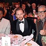 Chadwick Boseman, Tom Hiddleston, and Jeff Goldblum