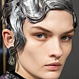 Shimmering Silver Wigs at Erdem Autumn 2020