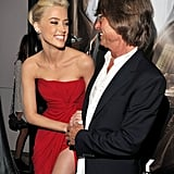 Amber Heard couldn't stop smiling at The Rum Diary premiere in LA.