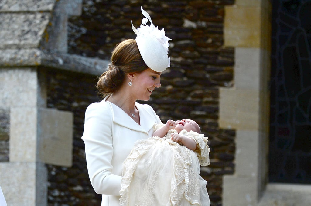 When She Carried Her Daughter to Her July 2015 Christening