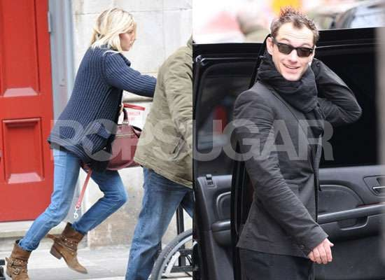 Photos of Jude Law and Sienna Miller Leaving His NYC Apartment Together