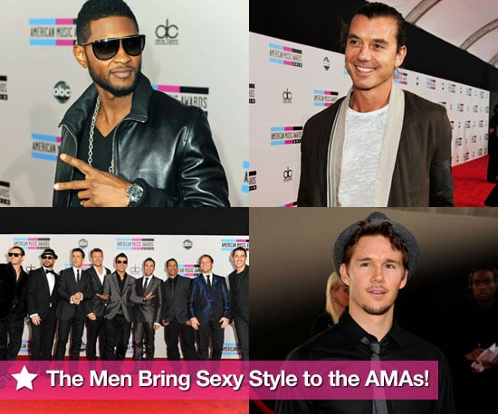 Pictures of Usher, Trey Songz, Diddy, Gavin Rossdale, Ryan Kwanten and More Arriving at AMAs