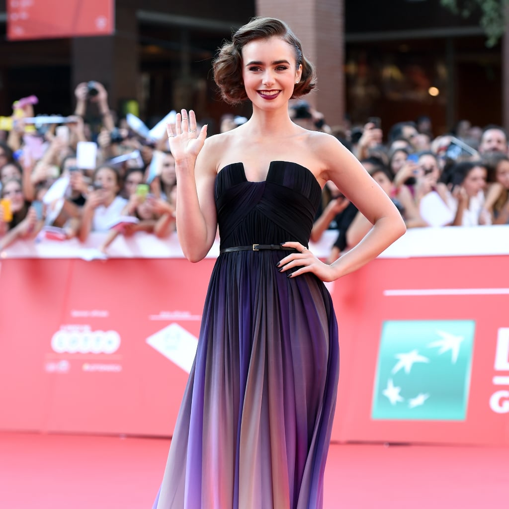 Lily Collins Elie Saab Dress at 2014 Rome Film Festival | POPSUGAR ...