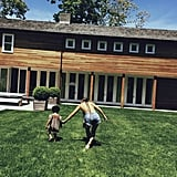 Blue ran around with Beyoncé in the Hamptons.  Source: Beyonce.com