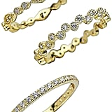 Sterling Forever Gold Vermeil & Cubic Zirconia Stackable Rings