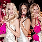 Lindsay Ellingson, Adriana Lima, and Doutzen Kroes posed with underwear.