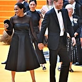 Pictured: Meghan Markle and Prince Harry at The Lion King premiere in London.