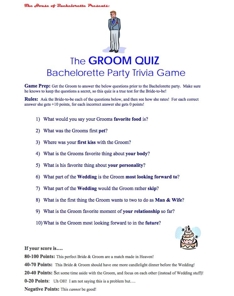 the groom quiz free bachelorette party printables popsugar smart