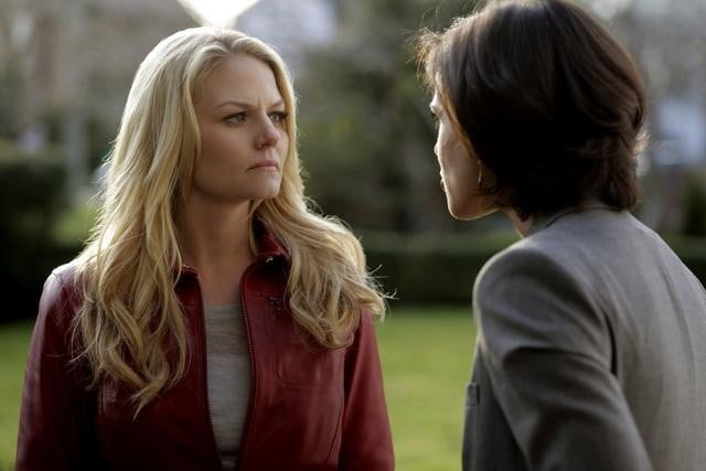 Jennifer Morrison and Lana Parrilla on ABC's Once Upon a Time.