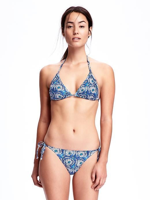 Old Navy Floral String-Bikini Top ($20) and Floral String-Bikini Bottoms ($20)