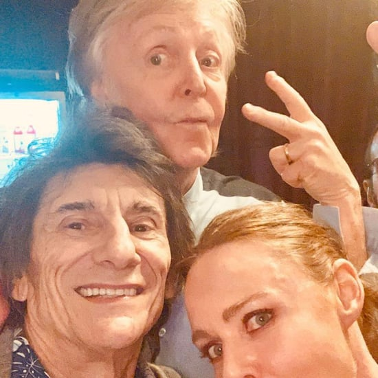 Paul McCartney, Ringo Starr, and Ronnie Wood Selfie 2018