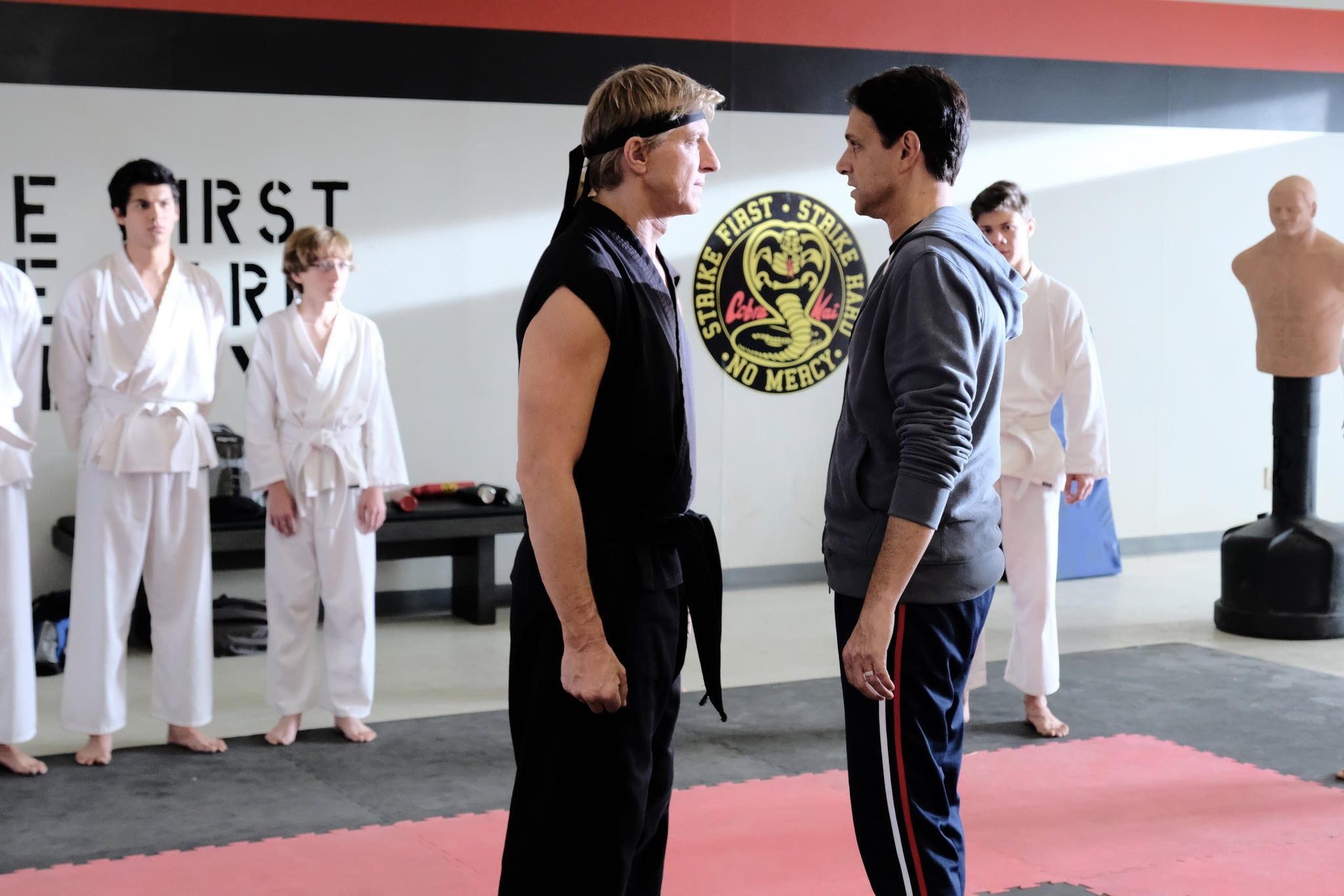 COBRA KAI, from left: William Zabka, Ralph Macchio, (Season 2, ep. 205, aired April 24, 2019). photo: Guy D'Alema / YouTube Red/courtesy Everett Collection