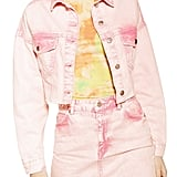 Topshop Acid Wash Jacked Denim Jacket