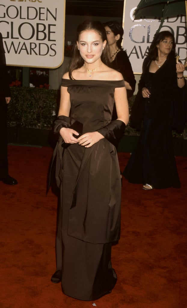 Natalie Portman in a Chocolate Gown at the 2000 Golden Globes