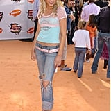 Then: Remember when Blake was just another teenager promoting Sisterhood of the Traveling Pants? Distressed denim and fitted short-sleeved tees were red carpet appropriate with matching heels.