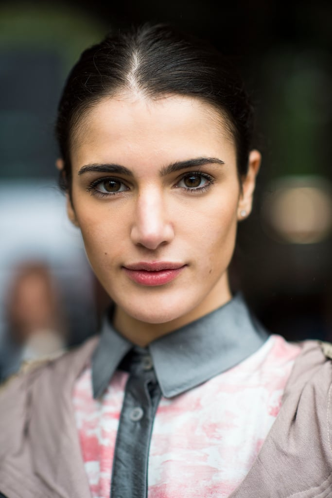 We love the liner effect this girl's mascara gives her eyes, along with her beautiful bold brows.  Source: Le 21ème | Adam Katz Sinding