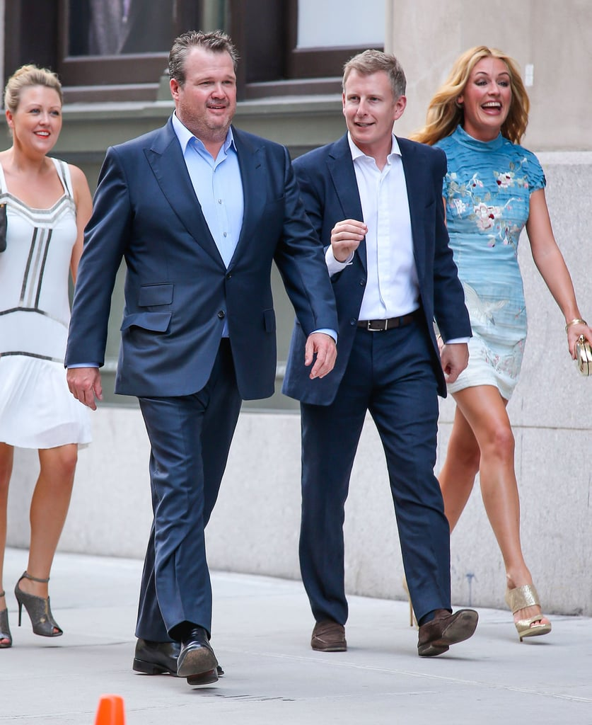 Eric Stonestreet, Cat Deeley, and her husband, Patrick Kielty, arrived at Jesse Tyler Ferguson's NYC wedding in July 2013.