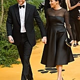 July 2019: Prince Harry and Meghan Markle at the UK Premiere of The Lion King
