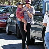 Miranda Kerr Hits the Beach With Baby Flynn